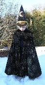 Boys or Girls Velvet Glitter Wizard Cape
