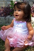 Baby-Toddler Fairy Romantic Ruffles and Ribbons Tutu