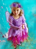 Child Princess Fuchsia Fairy Dress